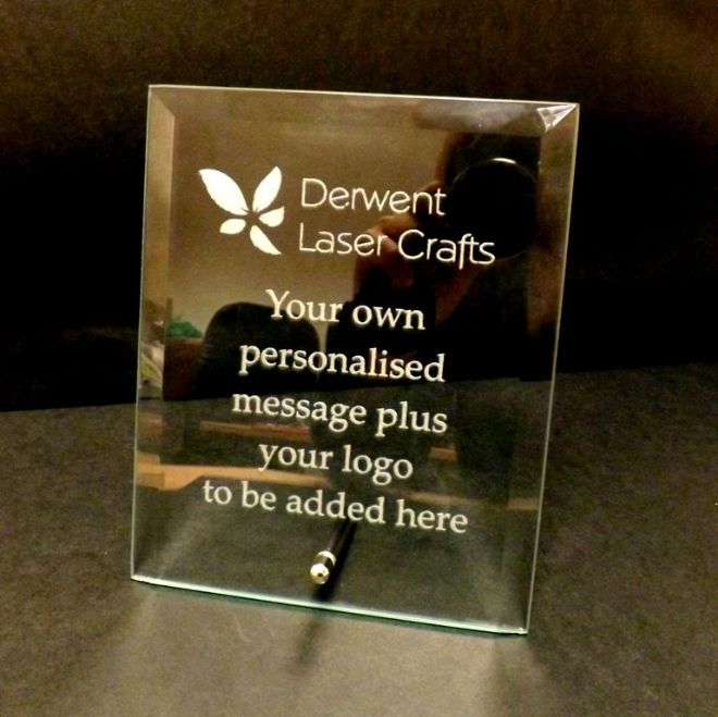 "Personalised Engraved Glass Plaque 7"" x 5"""
